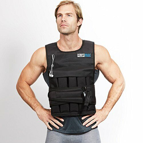 RUNmax 12lb-140lb Weighted Vest (Without Shoulder Pads, 50lb)