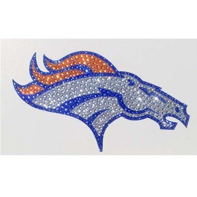 Denver Broncos Logo Bling Auto Emblem Glitter Rhinestone Car Truck Decal Sticker