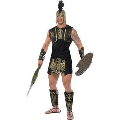 Smi - Karneval Herren Kostüm Römer Krieger Legionär Größe - Goldene Krieger Kostüm