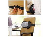 1byone Shiatsu Massage Pillow with Heat Balls and Car Adapter, Neck/Shoulder/Back Pillow Massager