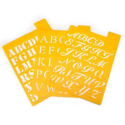 "Reusable Craft Stencils, Small Alphabet, 7"" x 10"", Letter height 1"", Stencil"