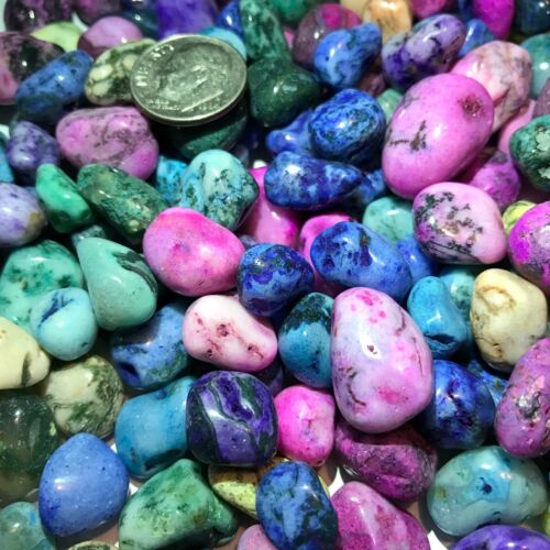 DYED TREE AGATE *Tumbled and Highly Polished* 1/2 Pound Lots ~ (110) Gemstones