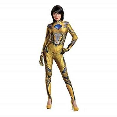 Disguise Women's Yellow Ranger Movie Bodysuit Halloween Costume L - Yellow Halloween Costume
