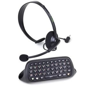 Microsoft Xbox 360 Chat Pad Keyboard & Voice Chat Microphone Headset Kit