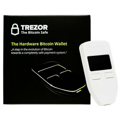 Trezor Hardware wallet for Bitcoin BTC Litecoin LTC ZCash Ethereum Dash White