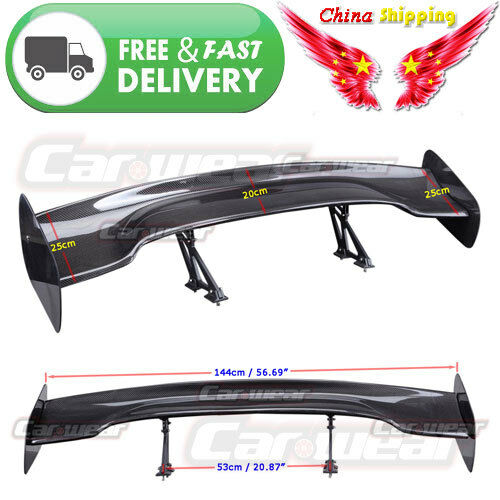 JDM Real Carbon Fiber Rear Universal Roof Spoiler Wing For ACURA 57