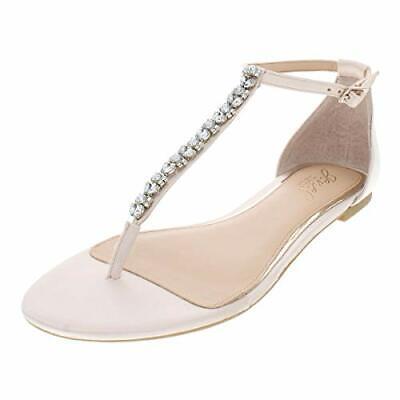 BADGLEY MISCHKA Womens Gabby Split Toe Casual Ankle, Champagne Satin, Size 8.5 3 - $14.12