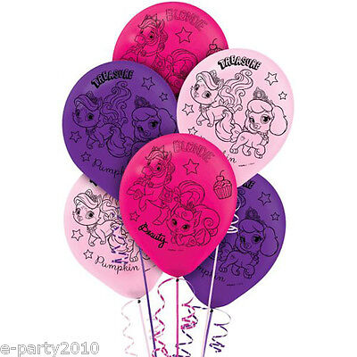 DISNEY PRINCESS PALACE PETS LATEX BALLOONS (6) ~ Birthday Party Supplies Helium - Palace Pets Birthday Party
