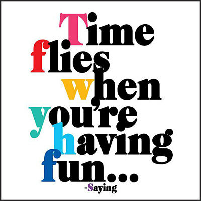 Quotable Greeting Card - TIME FLIES - QC-C-D301