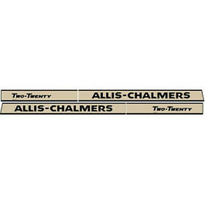 New 220 Allis Chalmers Tractor Hood Decal Set High Quality Vinyl Hood Decal Kit