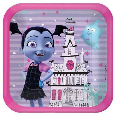 VAMPIRINA SMALL PAPER PLATES (8) ~ Birthday Party Supplies Cake Dessert Disney ()