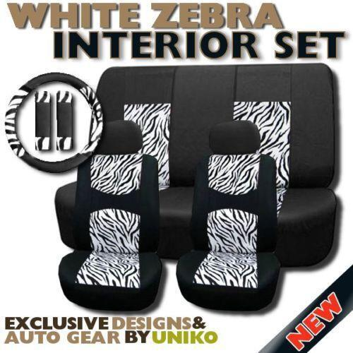Zebra Print Steering Wheel Cover Ebay