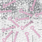 Words Pink Party Confetti