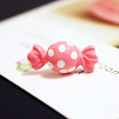 Wholesale Price Candy 3D Sides Pink Sugar Sweet  Stud Earrings Halloween - Halloween Sweets Wholesale