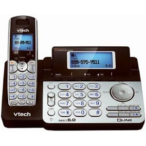 2 units -Vtech 2 Line cordless office / business phone system