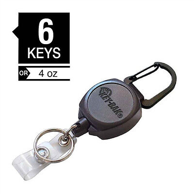 KEY-BAK Sidekick Badge & Key Reel - Heavy Duty Retractable ID Holder - USA Made