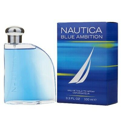Nautica Blue Ambition 3.4 oz EDT Cologne for Men Brand New In Box