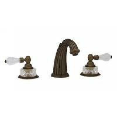 Phylrich Antique Bronze Regent Crystal Deck Roman Tub Faucet Trim (Antique Bronze Tub)