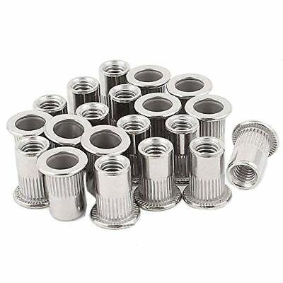 20pcs 516-18 Rivet Nuts Stainless Steel Threaded Insert Nutsert Rivnuts 516-