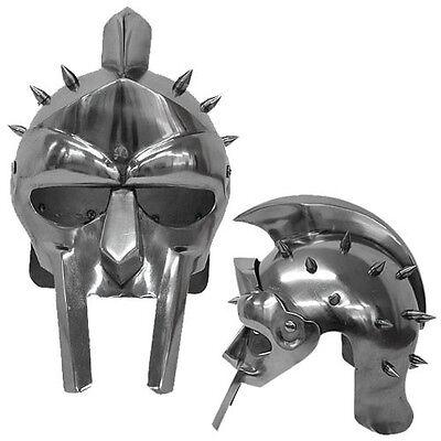 Medieval Helmet of the Spaniard Maximus Roman Gladiator 18 Gauge Replica - Roman Helmets