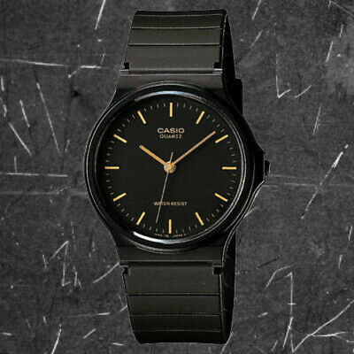 Casio Black and Gold Classic Analog Watch MQ241E NEW
