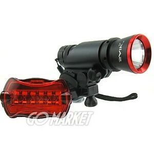 5w LED CREE Flashlight Torch Bike Bicycle +Rear Light R