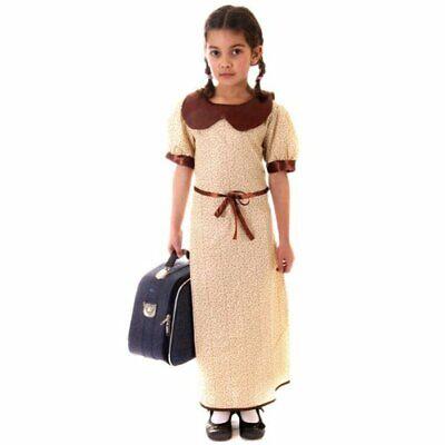 Fancy Dress Child Wartime Evacuee Girl Age 4 - Evacuee Fancy Dress Kostüme