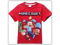 OFFICIAL MINECRAFT RED TSHIRT