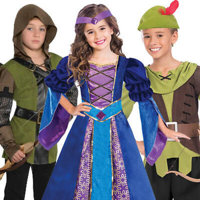 Medieval Robin Hood Kids Fancy Dress Maid Marian Kids World Book Day Costumes - Maid Marian Costume Child