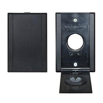 VacuValve Full Door Central Vacuum Inlet Valve Black 775590BLK