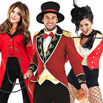 Circus Ringmaster Adults Fancy Dress Lion Tamer Mens Ladies Costumes Outfits New](Circus Ringmaster Outfit)