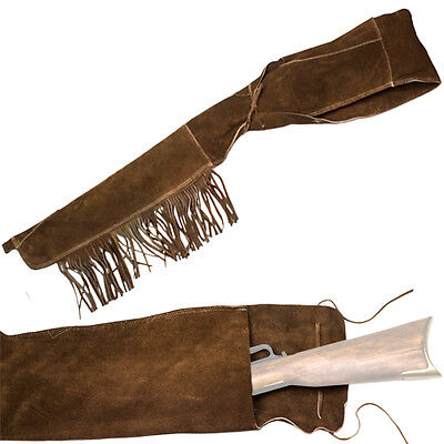 """Deluxe Suede Leather Rifle Scabbard Holster Fits Most 40"""" Rifles Carbines"""