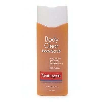 Neutrogena Body Clear Body Scrub, Salicylic Acid Acne Treatment 8.5 oz  ()