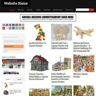 Jigsaws And Puzzles Store - Online Business Website For Sale Domain Hosting