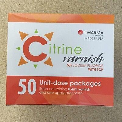 5 Sodium Fluoride Varnish -mint - 50 X 0.4 Ml Unit Dose Packages Citrine