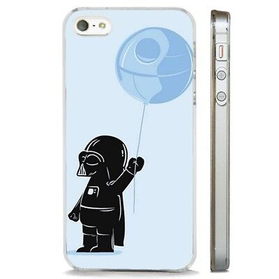 Star Wars Funny Death Star Balloon CLEAR PHONE CASE COVER fits iPHONE 5 6 7 8 X