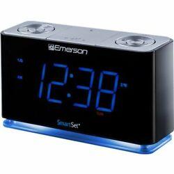 Emerson SmartSet Clock Radio with Bluetooth Speaker