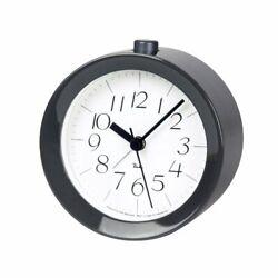 Lemnos RIKI ALARM CLOCK Alarm Clock Gray WR09-14 GY Table Clock Japan