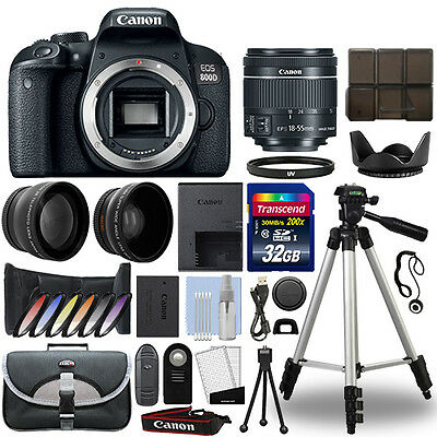 Canon EOS 800D Digital SLR Camera + 18-55mm STM 3 Lens Kit + 32GB Best Value Kit (Best Cheap Digital Camera)