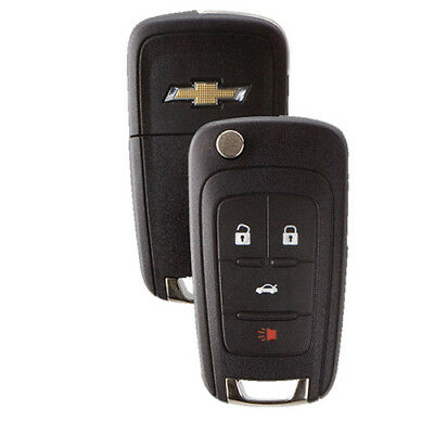 4-Button Chevrolet Remote Flip-Out Key Fob Cruze Camaro Malibu Equinox Sonic