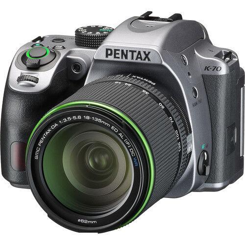 Pentax K-70 Digital SLR Camera - Silver with 18-135mm Lens