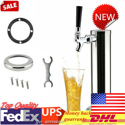 Single Tap Stainless Steel Draft Beer Tower Chrome Faucet For Homebar