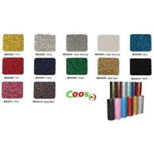 "HTV Coos Glitter Heat transfer Vinyl w/ Sticky Backing For T-shirt, Garment etc. ---20""x 1yd or Bulk Sale 2 Styles"