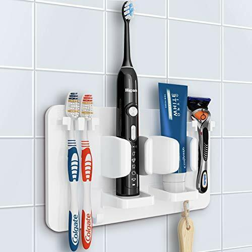 Toothbrush Razor Holder for Shower: Bathroom Accessories Organizer Wall Mounted