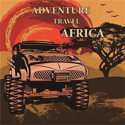 - Metal Tin Sign adventure travel africa  Bar Pub Vintage Retro Poster  30*30 cm