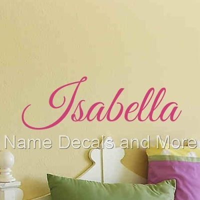 Personalized Girls Name Wall Decal Vinyl Sticker Bedroom Nursery Baby Monogram