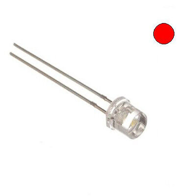 E-projects - Clear Red 5mm Led - Wide Angle Light 100 Pcs