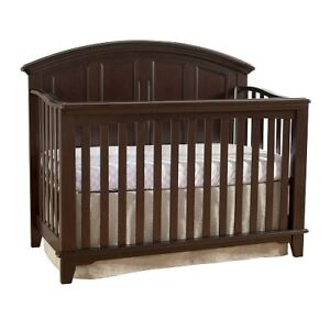 Jonesport Wooden Convertible Crib - Chocolate Mist by Westwood D