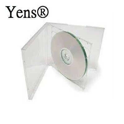 Yens 50 Pcs New Clear Double Standard Cd Dvd Jewel Case 10.2mm 5010ccd2