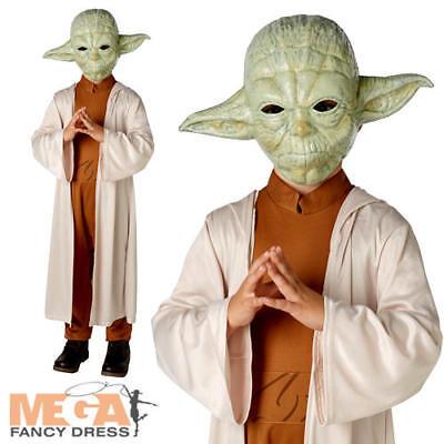 Yoda Star Wars Kids Fancy Dress Movie Character Boys Childrens Costume + Mask - Yoda Girl Costume